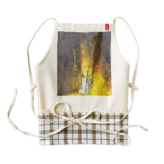 Light and fury of a rocket taking off zazzle HEART apron
