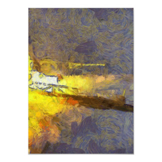 Light and fury of rocket taking off 4.5x6.25 paper invitation card