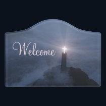 Light and Salvation Door Sign