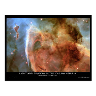 Light and Shadow in the Carina Nebula Postcard