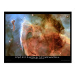 Light and Shadow in the Carina Nebula Postcards