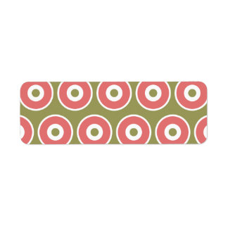Light and Sweet Tan Coral Circle Pattern Label