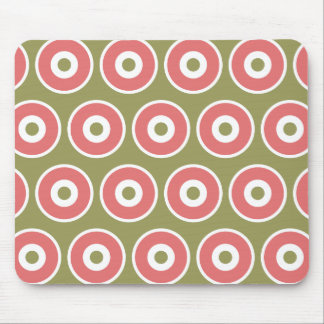Light and Sweet Tan Coral Circle Pattern Mouse Pad