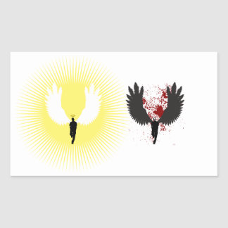 Light Angel/Dark Angel Rectangular Sticker