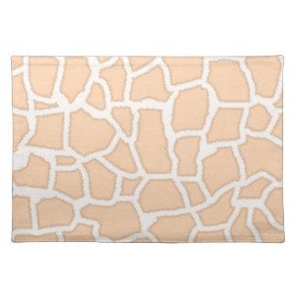 Light Apricot Giraffe Animal Print Place Mat