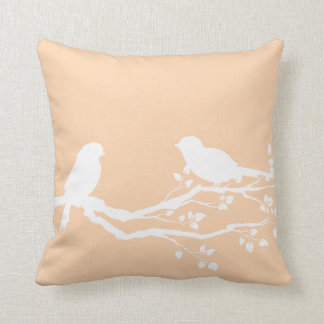 Light Apricot Nature Picture Throw Pillow