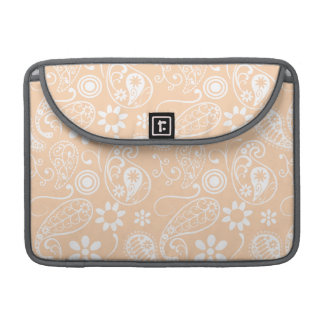 Light Apricot Paisley; Floral Sleeve For MacBook Pro