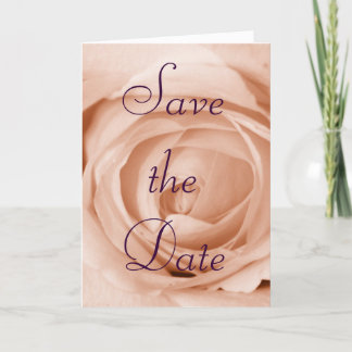 Light Apricot Save the Date Announcement