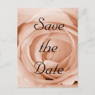 Light Apricot Save the Date Announcement Postcard