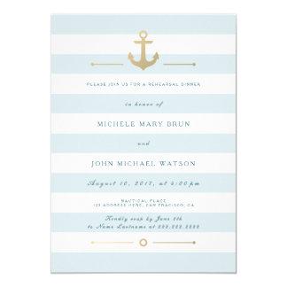 Light Aqua Blue Nautical Rehearsal Dinner Invite