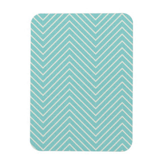 LIGHT AQUA BLUE WHITE ZIGZAG ILLUSIONS ZIG ZAG OPT MAGNET
