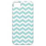 Light Aqua Chevron Stripes Pattern iPhone 5 Case