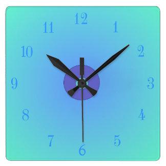 Light Aqua /Green Mauve Centre  >Plain Wall Clocks