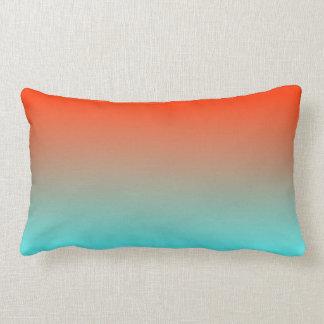 Light Aqua Orange Ombre Pillows