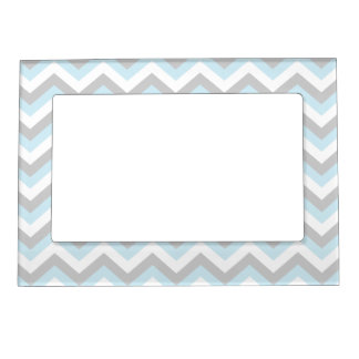 light aqua turquoise chevron chic zigzag pattern magnetic photo frame