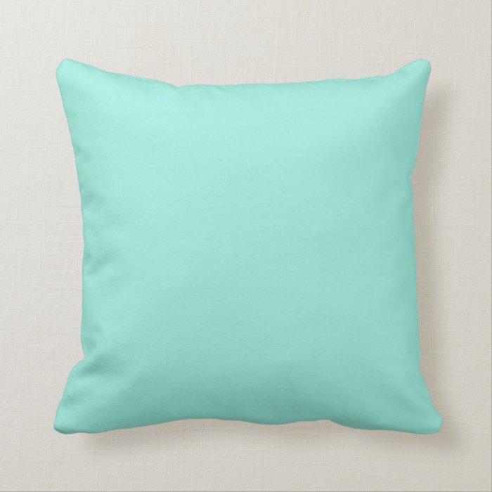 Light Aquafresh Aqua Blue Green Fashion Color Throw Pillow Zazzle