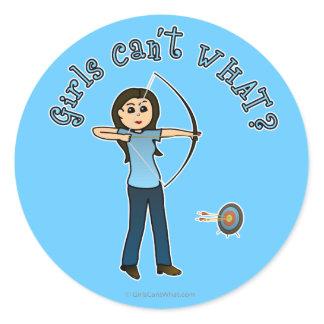 Light Archery in Blue Classic Round Sticker