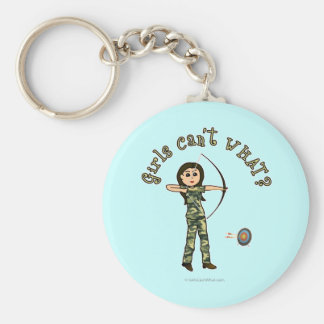 Light Archery in Camouflage Key Chains