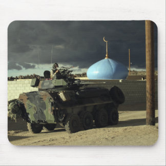 Light armored vehicle commander mouse pad
