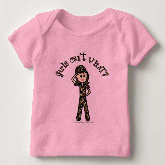 Light Army Woman Baby T-Shirt