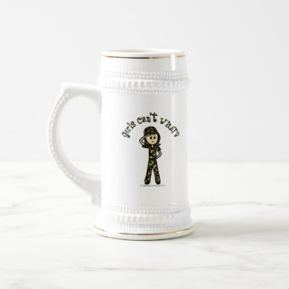 Light Army Woman 18 Oz Beer Stein