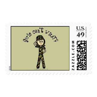 Light Army Woman Postage Stamps