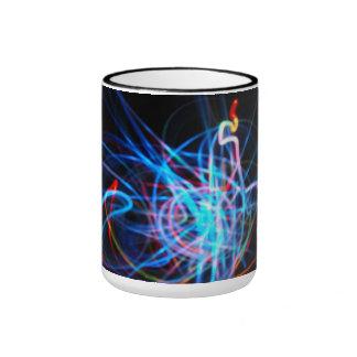 Light art blue - ringer mug