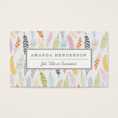 Light As A Feather Business Cards at Zazzle
