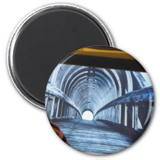 Light at end of the TUNNEL Boston Bridge views 2 Inch Round Magnet