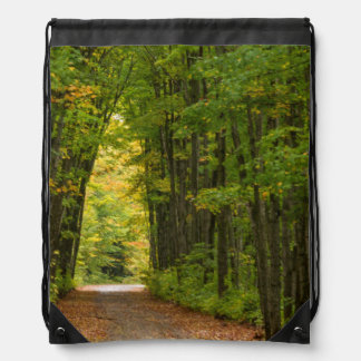 Light At The End Of A Tunnel Of Trees Drawstring Bag