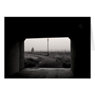Light at the End of the Tunnel B&W Stationery Note Card