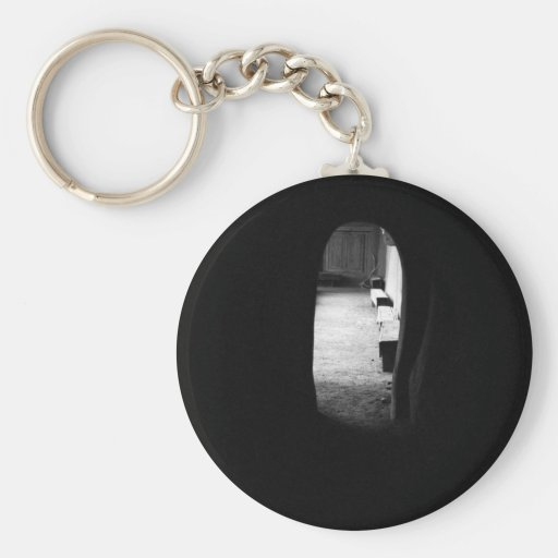 Light at the End of the Tunnel Basic Round Button Keychain