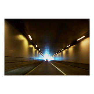 Light at the End of the Tunnel by SRF Poster