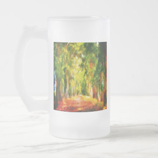 Light At The End Of The Tunnel Frosted Glass Beer Mug