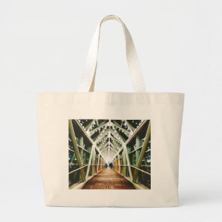 """""""Light At The End Of The Tunnel """" Large Tote Bag"""