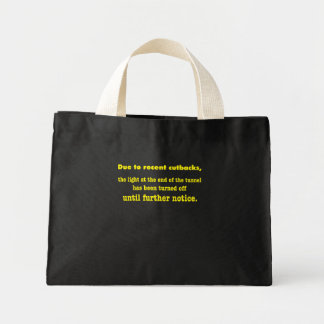 light at the end of the tunnel mini tote bag