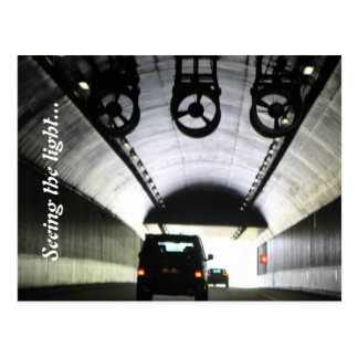 Light at the end of the tunnel postcards