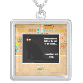 Light at the End of the Tunnel Square Pendant Necklace