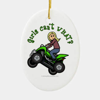 Light ATV | Four Wheeling Girl Ceramic Ornament