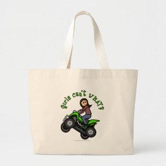 Light ATV | Four Wheeling Girl Large Tote Bag