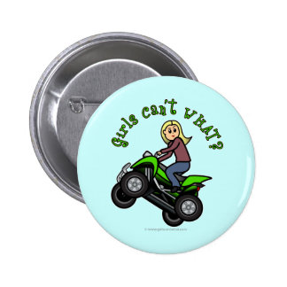 Light ATV | Four Wheeling Girl Pinback Button