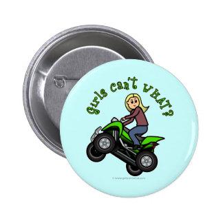 Light ATV | Four Wheeling Girl Pinback Button