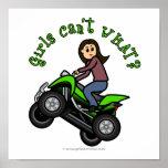 Light ATV | Four Wheeling Girl Poster