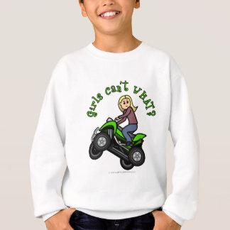 Light ATV   Four Wheeling Girl Sweatshirt