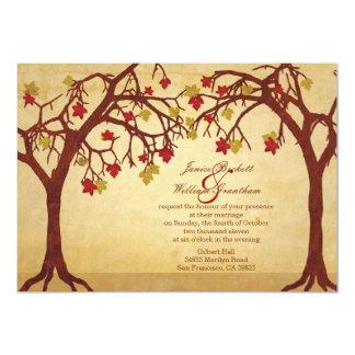 "Light Autumn / Fall Trees Wedding Invitation 5"" X 7"" Invitation Card"