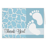 Light Baby Blue Giraffe Animal Print Stationery Note Card
