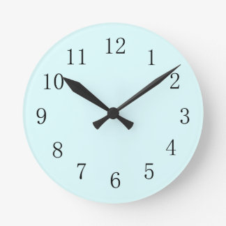Light Baby Blue Kitchen Wall Clock