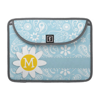 Light Baby Blue Paisley; Daisy MacBook Pro Sleeve