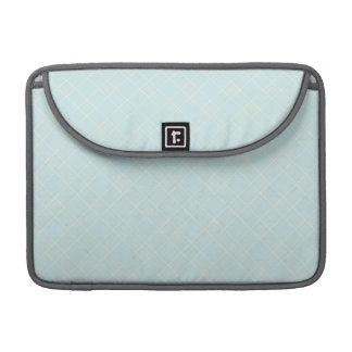 Light Baby Blue Plaid Sleeve For MacBooks