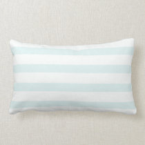 Light Baby Blue white Stripes Lumbar Pillow